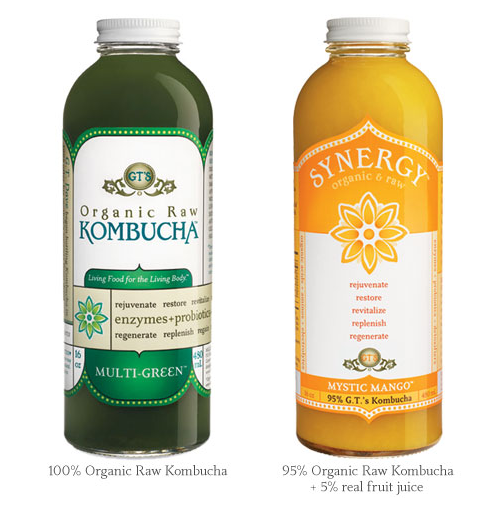 Kombucha Image from GT's Web Site